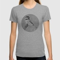 Chickadee Womens Fitted Tee Tri-Grey SMALL