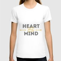 Heart and mind Womens Fitted Tee White SMALL