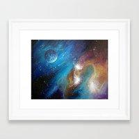 Colorful Galaxy Framed Art Print