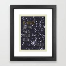 Sun Print - Be Yourself Framed Art Print