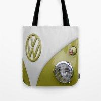 VW Camper Sage Green Tote Bag