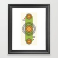 Lines and Flowers Framed Art Print