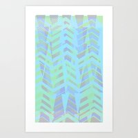 Seaside Chevron Art Print