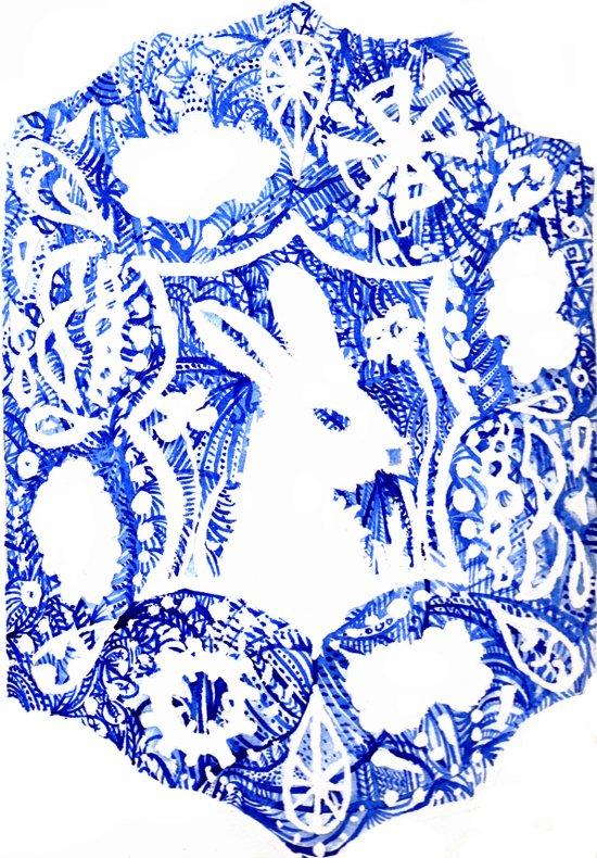 Rabbit's Dream Art Print
