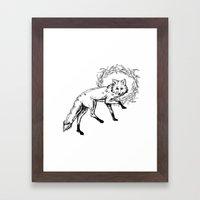 Fox King Framed Art Print