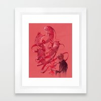 Cutting to the Chase Framed Art Print