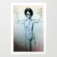 Presentation (the Girl o2) Art Print