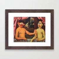 Bert Et Un De Ses Frères Framed Art Print