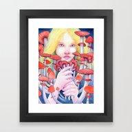 Keeper Of The Scarlet Ga… Framed Art Print