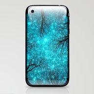 Black Trees Teal Space iPhone & iPod Skin