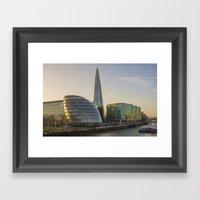 London City View Framed Art Print