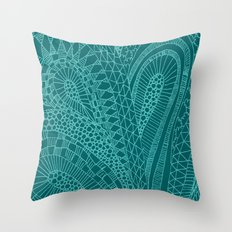 Sketchy Geometric Waves Throw Pillow