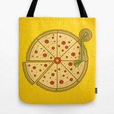 Pizza Vinyl Tote Bag