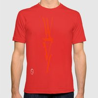 WAVY Mens Fitted Tee Red SMALL