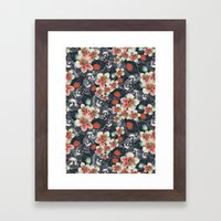 exotic floral Framed Art Print