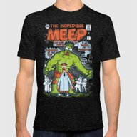 Incredible Meep Mens Fitted Tee Tri-Black SMALL