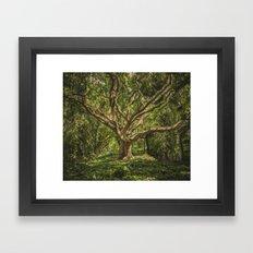 Spirits inside the wood Framed Art Print