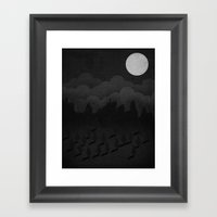 A night in the woods Framed Art Print
