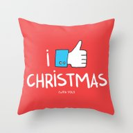 I Like Christmas (with Y… Throw Pillow