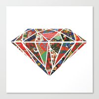 Origami Diamond Canvas Print
