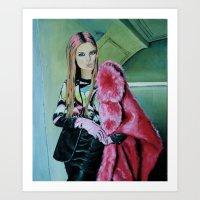 THE JPG GIRL Art Print