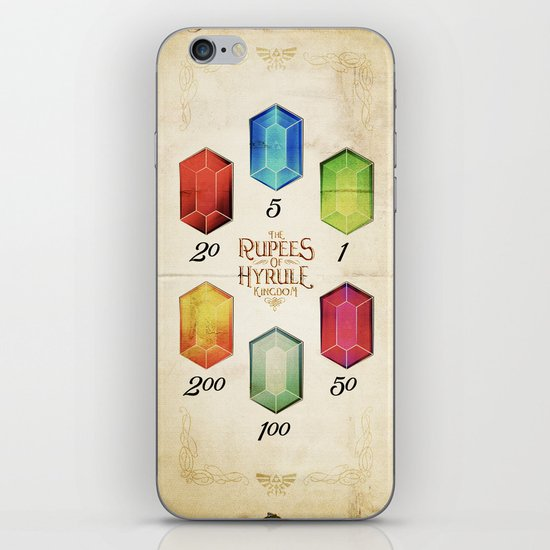 Legend of Zelda - The Rupees of Hyrule Kingdom Guide iPhone & iPod Skin