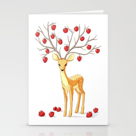Autumn Fawn Stationery Card