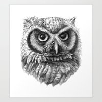 Intense Owl G137 Art Print