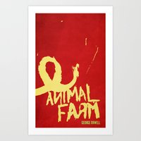 Animal Farm; George Orwell Book Cover Redesign Art Print
