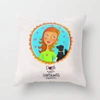 Dogs Are Confidants ❤�… Throw Pillow