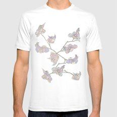 Birdie Bird Mens Fitted Tee White SMALL