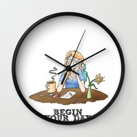 Live Your Life on Purpose, Illustration Wall Clock