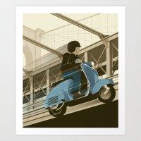 East River Crossing Art Print