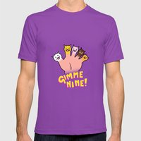 Cat Fingers - Gimme 9! Mens Fitted Tee Ultraviolet SMALL