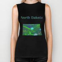 North Dakota Map Biker Tank