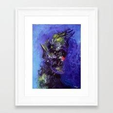 Gloomy Clown Framed Art Print