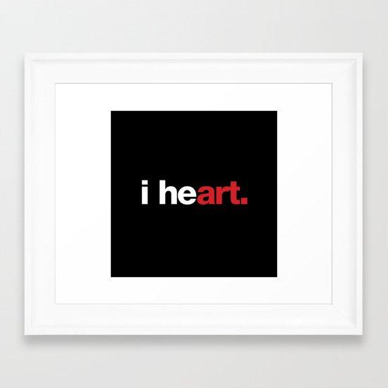 i heart (black) Framed Art Print