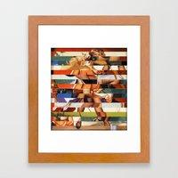 Glitch Pin-Up Redux: Pey… Framed Art Print