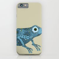 iPhone & iPod Case featuring Little blue frog by Rachel Russell