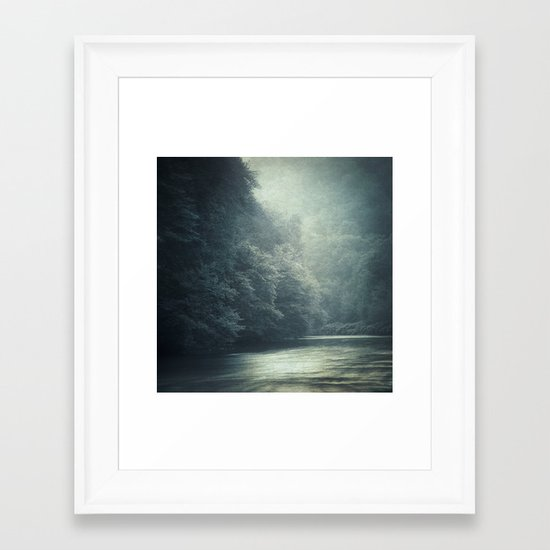 mystery river Framed Art Print