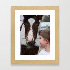 Boy meets Pony Framed Art Print