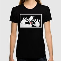 Vengeance Is Mime! Womens Fitted Tee Black SMALL