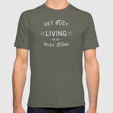 Get Busy Living Or Get B… Mens Fitted Tee Lieutenant SMALL