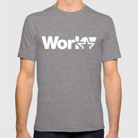 Work Mens Fitted Tee Tri-Grey SMALL