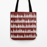Tote Bag featuring Bottles Red by Project M