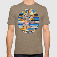 Glitch Pin-Up: Queenie Mens Fitted Tee Tri-Coffee SMALL