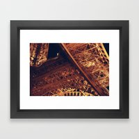 Eiffel at Night Framed Art Print