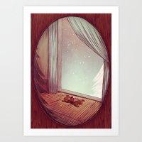 Winter Romance Art Print