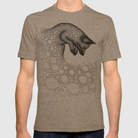 Jumping fox Mens Fitted Tee Tri-Coffee SMALL