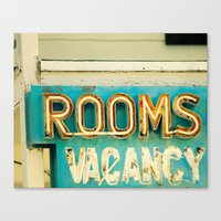 Rooms Neon Sign Canvas Print